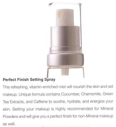 perfect finish setting spray 1 7 fl oz nourishes skin and sets. Black Bedroom Furniture Sets. Home Design Ideas