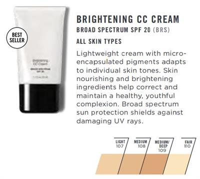 BRIGHTENING CC CREAM SPF 20 - 1 1 fl  oz - Color Correcting